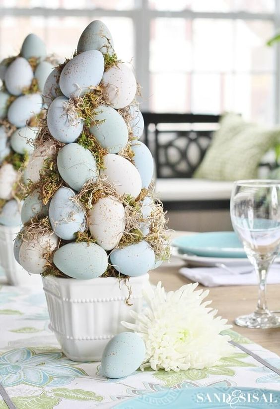 Alberi Uova Tavola Pasqua