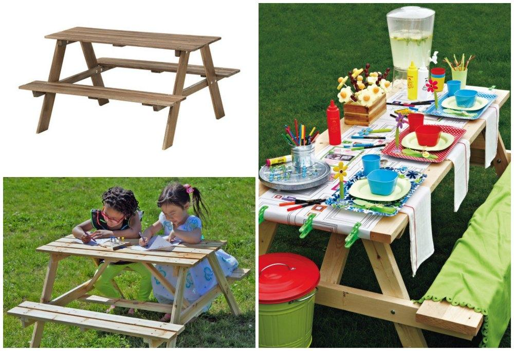 Idee e arredi per un giardino a misura di bambini - Tavolo pic nic ikea ...