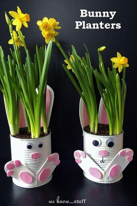 Vasetti fioriti di Pasqua