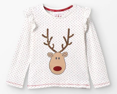 Maglietta maniche lunghe Natale bambina