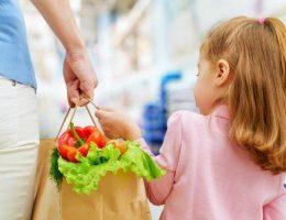 fare la spesa con i bambini