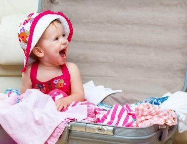 valigia bambini per mare e montagna