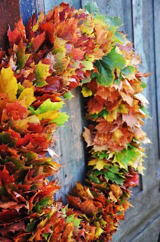 lavoretti autunno con foglie