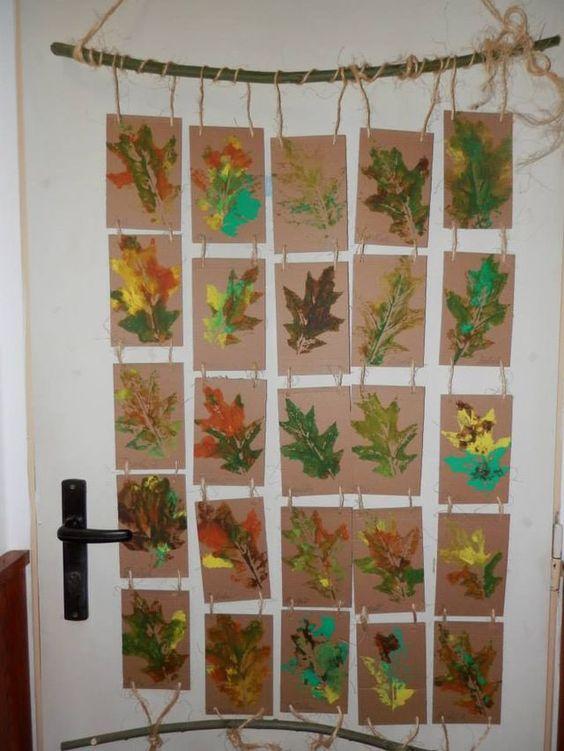 lavoretti autunno foglie composizione
