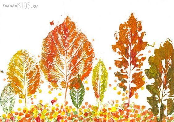 lavoretti autunno foglie disegni