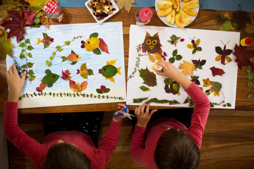 Famoso Lavoretti per bambini con le foglie d'autunno | Mammeacrobate WP58