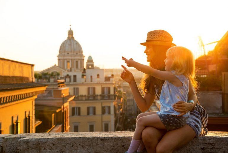 roma con bambini attività all'aperto