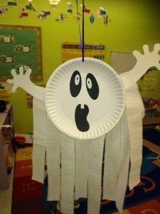 lavoretti halloween fantasma piatto