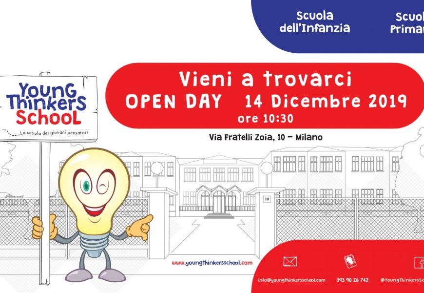 A Milano nasce la nuova scuola Young Thinkers School: Open Day Sabato 14 dicembre 2019!