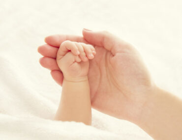 Baby Hand and Mother Hands, Woman Holding Newborn, New Born Kid Help