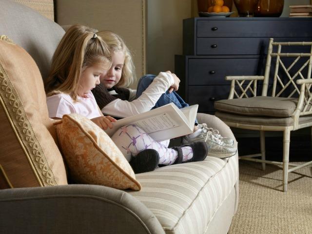 soggiorno e ingresso a misura di bambini