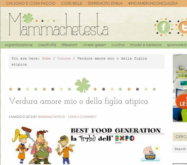 best food generation oggi su mammachetesta